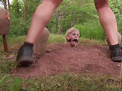 teen, blonde, bdsm, outdoor, kinky, crying, humiliation, mouth fuck, buried, sexually broken, allie james, matt williams