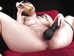 milf, asian, masturbation, squirting, dildo, vibrator, brunette, bowl, jav, shiofuky, jav hd, hina maeda