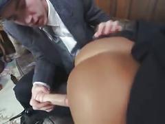 Gorgeous schoolgirl anal training