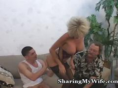 Mature couple recruits young guy to help