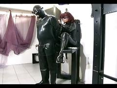 Poor slave is punished by sexy redhead mistress