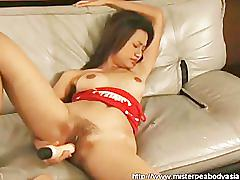 An awesome self fucker from asia