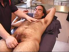 Cock sucking fatty milking hairy dad omar