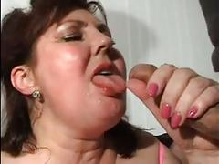 Hot mom n125 brunette bbw russian mature with a young man