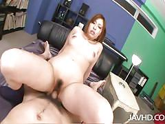 Cute asian chick filled with dick