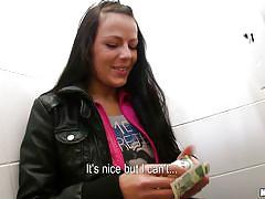 Czech teen blows man in public for a fee!