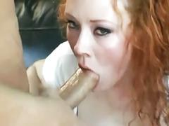 Redhead audrey anal in stockings and garter belt