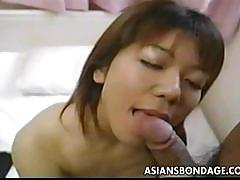 Japanese sweetie got her pussy licked then fucked