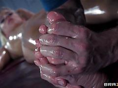 blonde, massage, babe, french, big cock, oiled, moaning, anal sex, dirty masseur, brazzers network, jessie volt, johnny sins