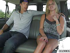 money talks, blowjob, big boobs, busty, undressing, car sex, blonde babe, bang bus, bangbros network, anabelle pync
