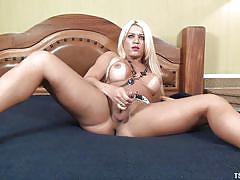 Nicole has a big surprise in her panties