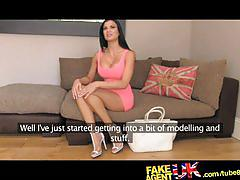 Fakeagentuk delicious body with amazing breasts can't turn down the money