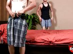 Broke straight boys: jamie pops jack's ass cherry