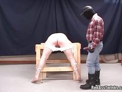 Bound twink fisted and fucked hard