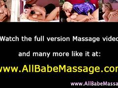 Lesbian massage babes toying