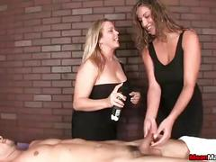 Meanmassage-two bossy ladies tag-team a poor young man