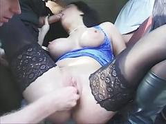 Busty hungarian fisting-slut for trucker-fun
