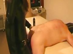 Brunette mistress teasing her slave