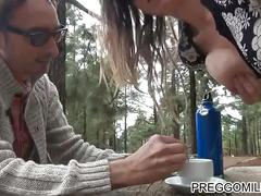 Couple having breast milk coffee