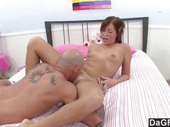 Hitchhiker has an intense orgasm