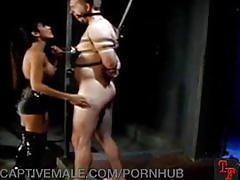 Cock torment from a sadistic mistress
