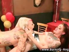 Horny alt fetish chicks eat pussy