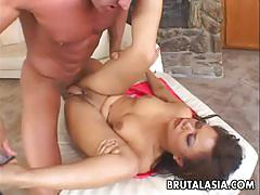 Asian slut annie cruz gets her tight ass pounded