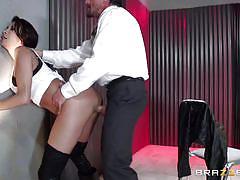 milf, deepthroat, blowjob, big boobs, brunette, from behind, on knees, milfs like it big, brazzers network, tommy gunn, kayla carrera
