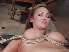 bdsm, busty, vibrator, submission, blonde milf, spread legs, pussy fingering, rope bondage, torture device, sex and submission, kink, bill bailey, abbey brooks