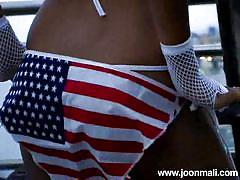 small tits, teen, thai, outdoor, public, bikini, solo, striptease, black hair, joon mali, joon mali