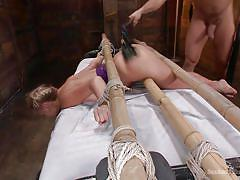 Big ass blonde milf gets dominating anal penetration