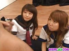 Japanese teens in sex game