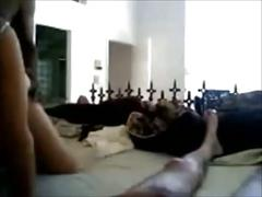 Filming his wife with black stud