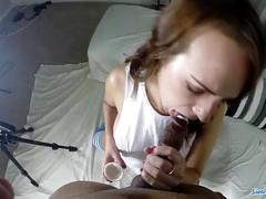 Alisha adams enjoys black cock candy treat