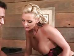 Blonde milf enjoys a hard cock