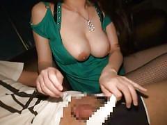 Huge breasted japanese woman sucks penis