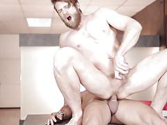 Bearded dude rides a hunk