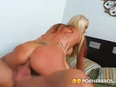 Skinny blonde nikki benz loves big cocks