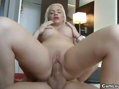 Busty bibi noel is riding huge cock