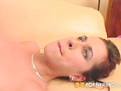 Naughty brunette enjoys extreme anal action