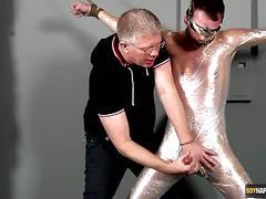 Bondage twink josh mckenzie jerked dry