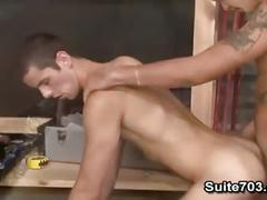 Men hard at work: cliff jensen & jake steel