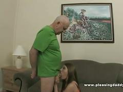 Slut fucks the horny old recruiter