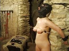 Masked slut gets tortured by her mistress