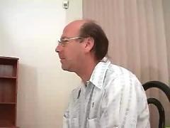 Blonde cuckold husband watches