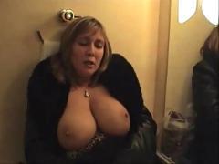 Busty mature masturbates