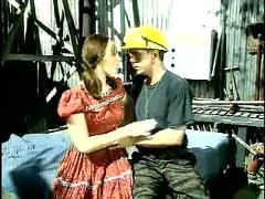 Vintage teenage babe fucking very harldy with construction worker