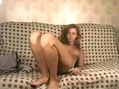Sweetie doing her pussy till she gets an orgasm
