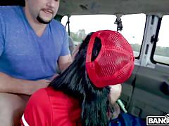 Picked up by the bang bus and fucked hard