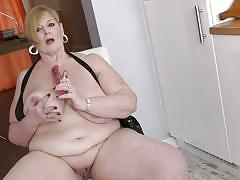 blonde, big tits, solo, masturbation, dildo, bbw, mature nl, jay x